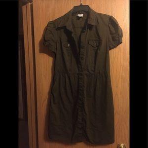 Worthington Army Green Shirt/ Dress